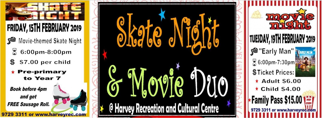 SKATE NIGHT AND MOVIE DUO