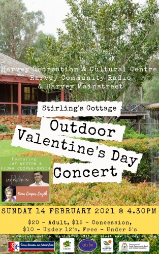 OUTDOOR VALENTINE CONCERT with Jay Weston & Fiona Cooper Smyth